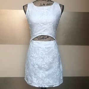 Two Sisters White Lace attached 2 piece dress